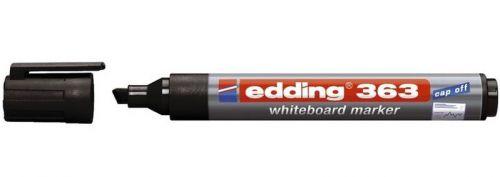 Edding 363 Whiteboard Marker Chisel Tip 1-5mm Black PK10