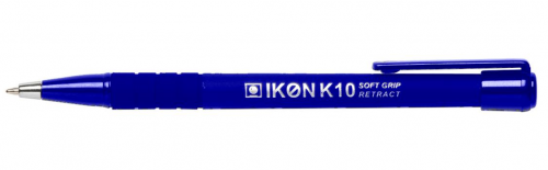 Langstane K10 Softgrip Retractable Ball Pen Blue [Pack 12]