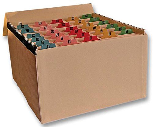 Cathedral Expanding File Manilla Mylar Reinforced 31 Pocket Labelled 1-31 Buff