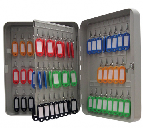 ValueX Key Cabinet Steel Grey Lockable Fixings 93 Keys