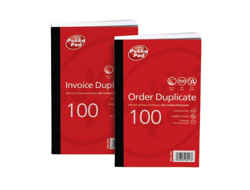 Value Duplicate Invoice Book PrePrinted VAT 210x130mm PK5