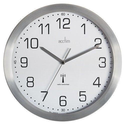 Acctim Mason RC Wall Clock 25cm Aluminium 74337