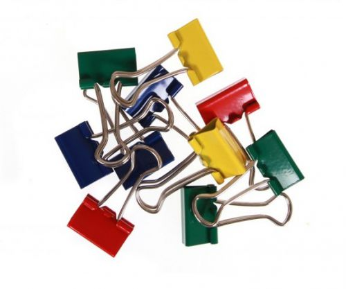 ValueX Fold Back Clips 19mm Assorted Colour (Pack 50)