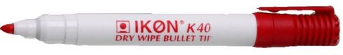 Langstane Ikon K40 Drywipe Marker Red - SINGLE