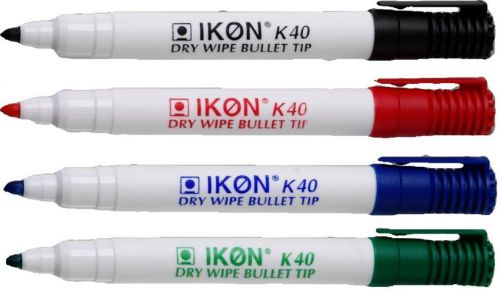 ValueX Dry Wipe Marker Bullet Tip Assorted (Pack 4)