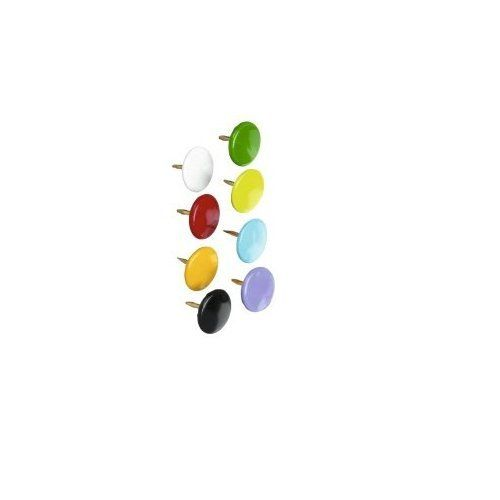 ValueX Drawing Pins 9.5mm Assorted Colours (Pack 100) Notice Board Accessories 70879WH