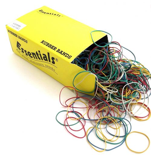 Value Box Of Rubber Bands Assorted 454g