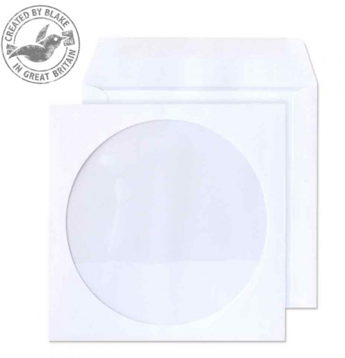 Value Blake Envelopes CD/DVD Wallet 125x125mm White PK50 CD/DVD Storage 40240BL
