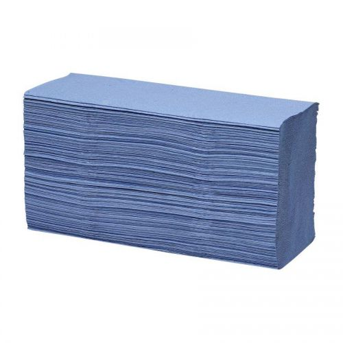 ValueX 1ply Z Fold Hand Towel Blue (12 x 250 Towels) PK3000