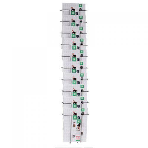 Twinco Agenda Wall Mounted Literature Holder Silver A4 10 Compartment 5150-8