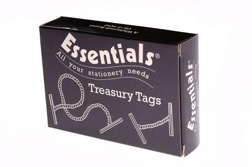 Value Treasury Tag Plastic 101mm Box 100