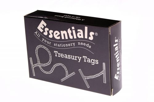 ValueX Treasury Tag Plastic 25mm (Pack 100)