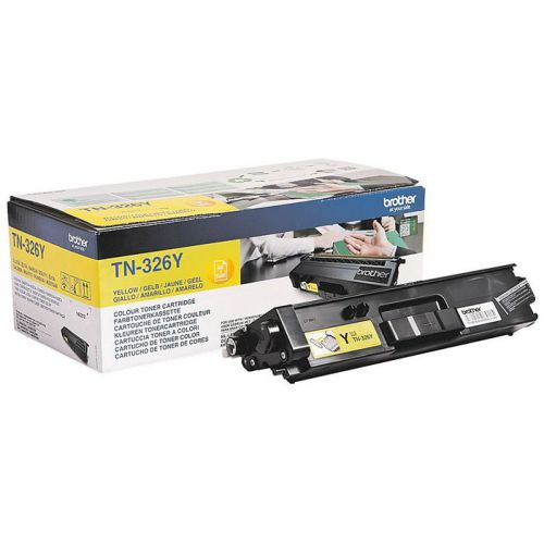 OEM Brother TN-326Y Yellow 3500 Pages Original Toner