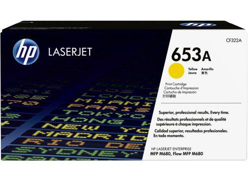 HP 653A Yellow Standard Capacity Toner 16.5K pages for HP Color LaserJet Enterprise M680 - CF322A