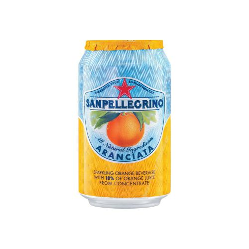 San Pellegrino 330ml Can Orange 12166832 [Pack of 24]