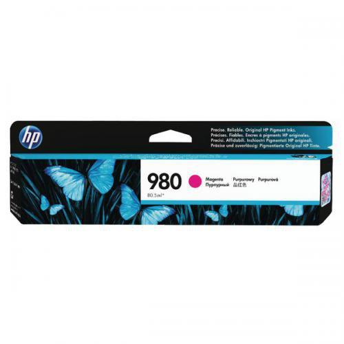 HP 980 Magenta Standard Capacity Ink Cartridge 87ml for HP OfficeJet Enterprise Color X555/X585 - D8J08A