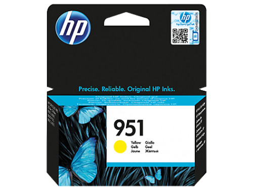 HP 951 Yellow Standard Capacity Ink Cartridge 700 pages for HP OfficeJet Pro 251/276/8100/8600/8610/8620 - CN052AE