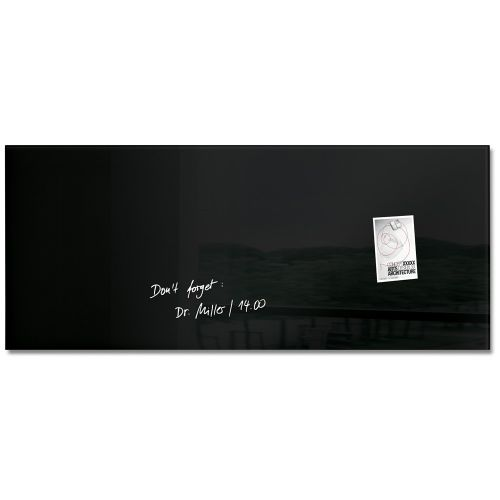 Sigel Artverum Magnetic Glass Board 1300x550mm Black