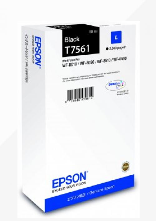 Epson C13T756140 T7561 Black Ink 50ml