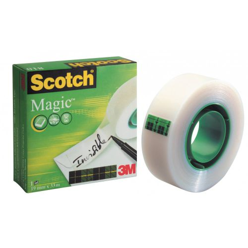 Scotch Magic Tape Value Pack 19mm x 33m Matt [Pack 8]