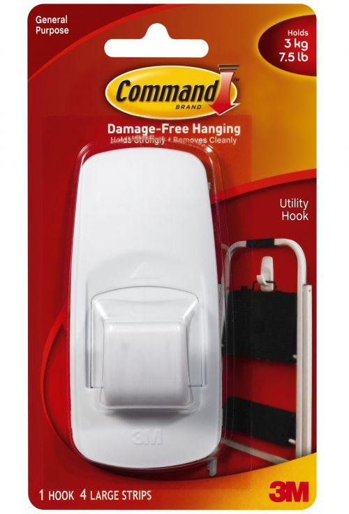 3M Command Jumbo Hook with Command Strips