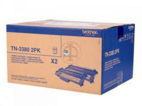 Brother TN3380 Black Toner 2x8K Twinpack