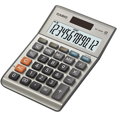 Casio MS-120BM 12-Digit Desktop Calculator Silver