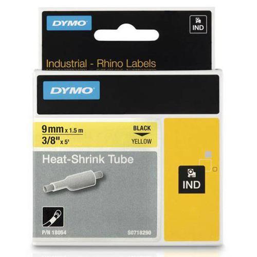 Dymo Rhino Industrial Heat Shrink Tube 9 mm x 1.5 m Black on Yellow 18054