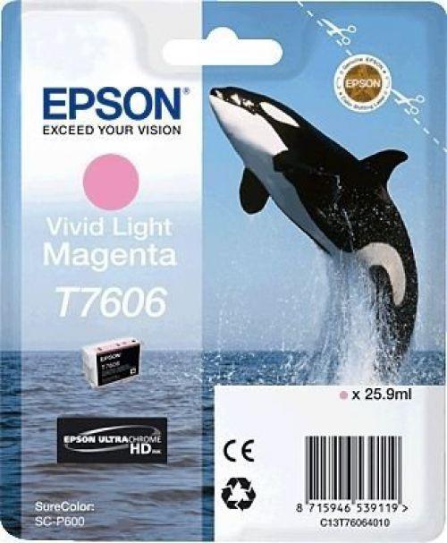 Epson C13T6064010 T7606 Vivid Light Magenta Ink 26ml