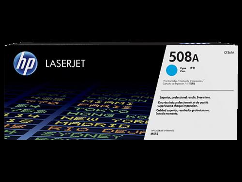 HP 508A Cyan Standard Capacity Toner Cartridge 5K pages for HP Color LaserJet Enterprise M552/M553/M577 - CF361A