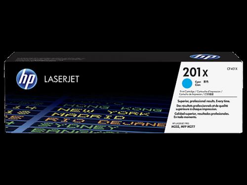 HP 201X Cyan High Yield Toner Cartridge 2.3K pages for HP Color LaserJet Pro M252/M274/M277 - CF401X