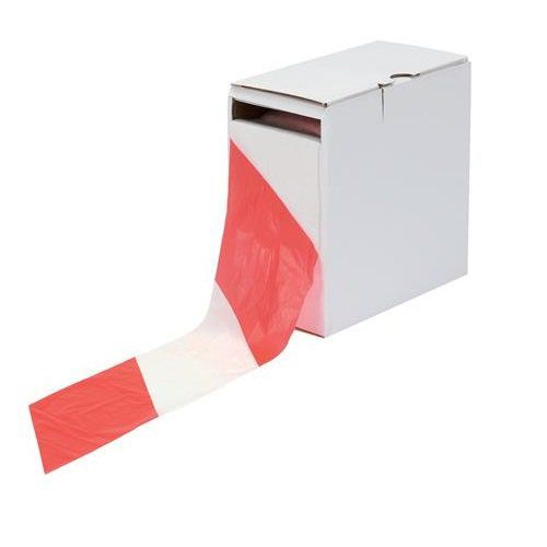 ValueX Barrier Tape 75mm x 500m Red/White