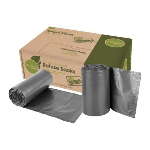 ValueX Medium Duty Refuse Sack Black (Pack 200)
