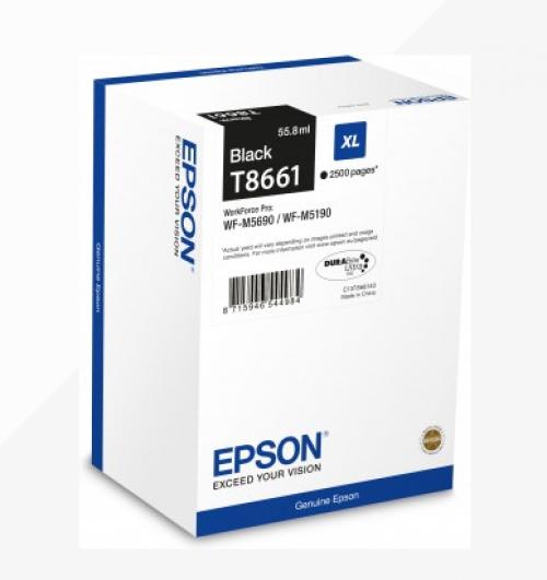 Epson C13T866140 T8661 Black Ink 56ml