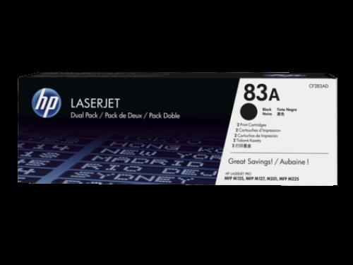 HP 83A Black Standard Capacity Toner Cartridge 1.5K pages Twinpack for HP LaserJet Pro M201/M125/M127/M225 - CF283AD