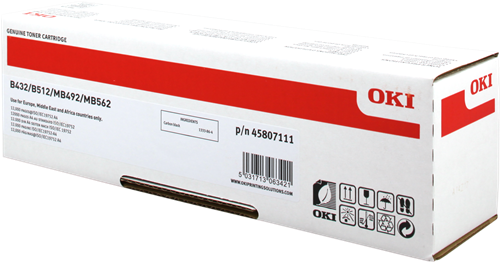 OKI 45807111 Black Toner 12K