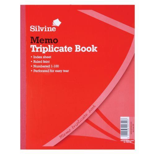 Silvine, 606 Triplicate Book 10x8