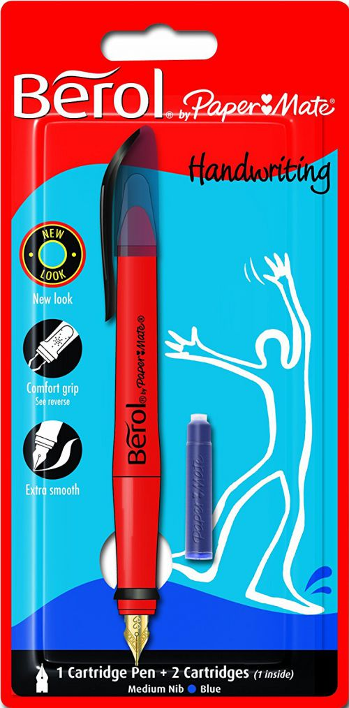 Berol Cartridge Pen Blue Blister of 1 3P