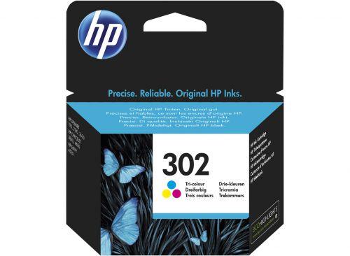 HP F6U65AE 302 Tricolour Ink 4ml