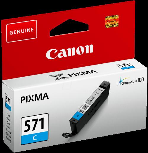 Canon 0386C001 CLI571 Cyan Ink 7ml