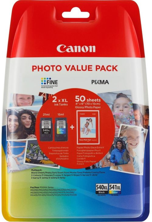 Canon 5222B013 PG540XL CL541XL Ink Paper Multipack