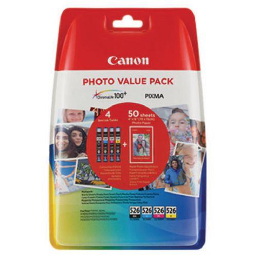 Canon 4540B017 CLI526 CMYK Photo Ink 4x9ml Multipack