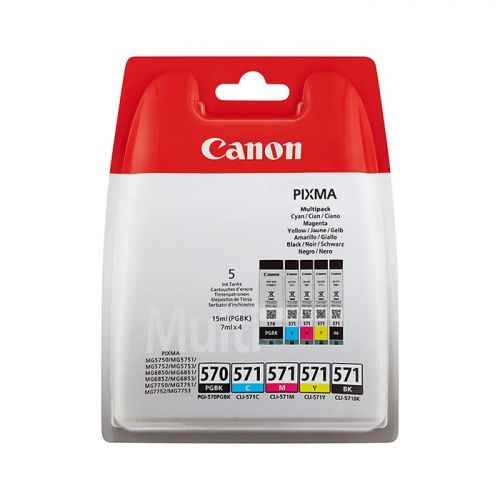 Canon 0372C004 PGI570 CLI571 Ink 15ml 4x7ml Multipack
