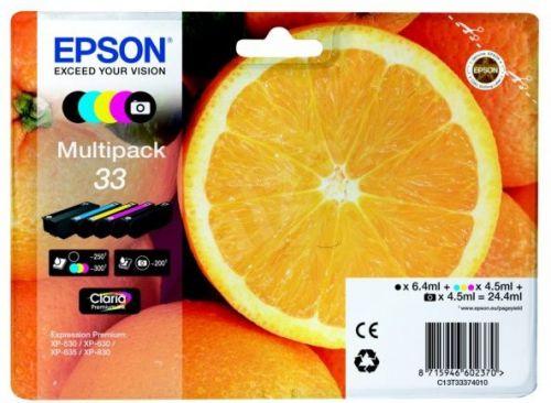 Epson C13T33374012 33 Black Colour Ink 6ml 4x4.5ml Multi