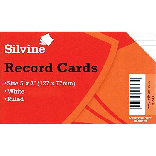 ValueX Record Cards 127x76mm Ruled White (Pack 100)