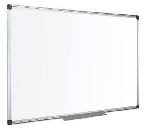 Bi-Office Maya Enamel Aluminium Framed Whiteboard 90x60cm