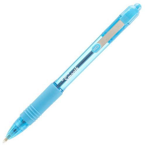 Zebra Z-Grip Smooth Rectractable Ballpoint Pen 1.0mm Tip Blue (Pack 12)