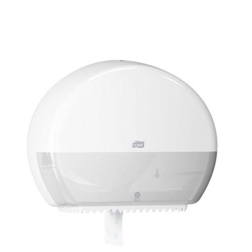 Tork 555000 Mini Jumbo T2 Toilet Roll Dispenser White