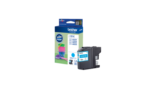 Brother LC221C Cyan Ink Cartridge Yield 260 Pages