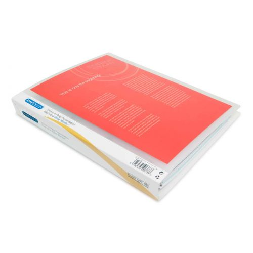 ValueX Presentation Ring Binder Polypropylene 4 D-Ring A4 25mm Rings Clear (Pack 10)